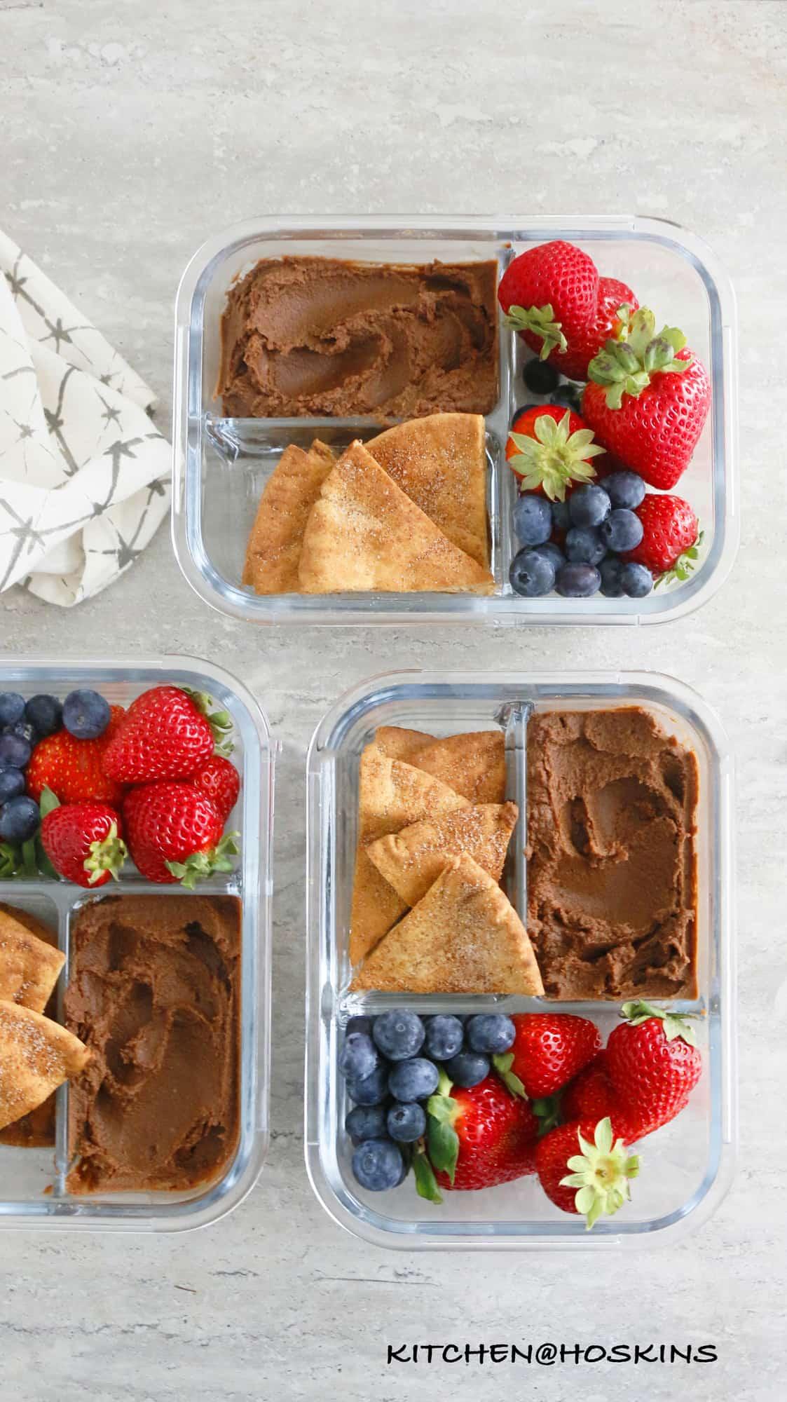 4 INGREDIENT GUILT FREE CHOCOLATE HUMMUS