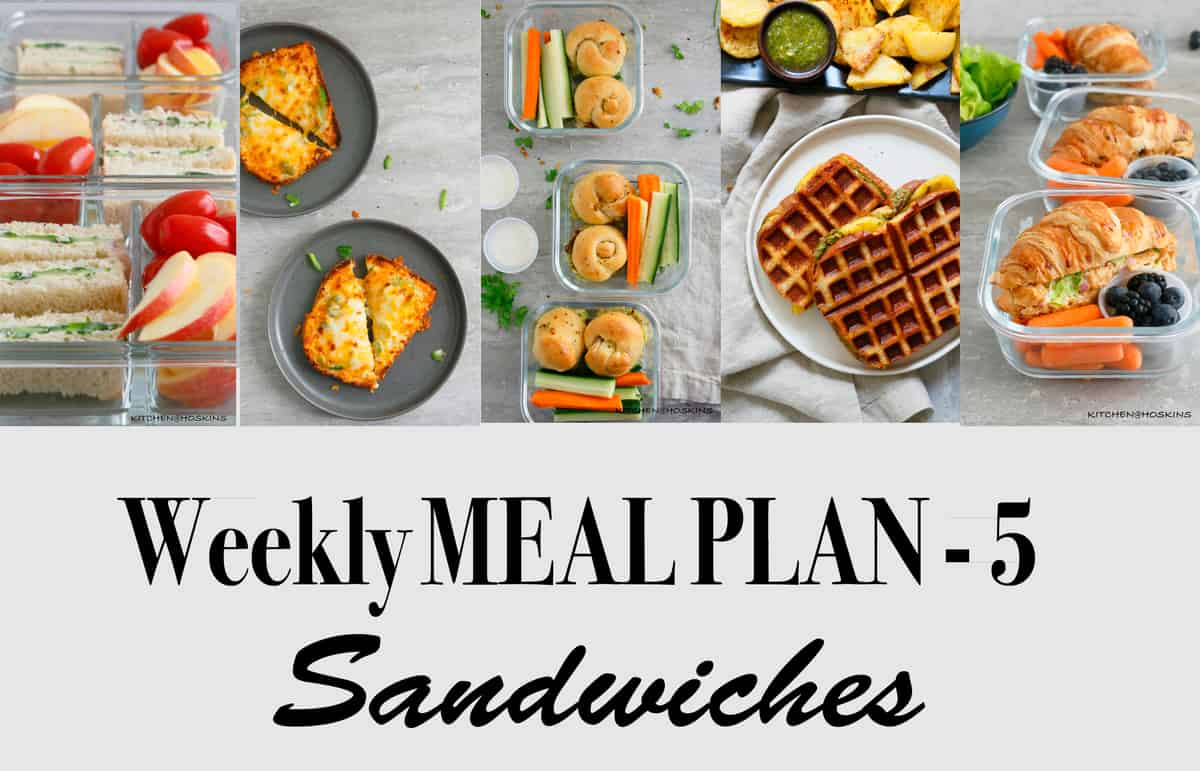 Weekly Meal Plan-5, Sandwiches