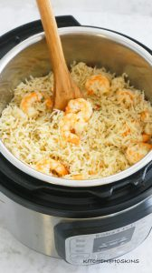 garlic butter shrimp rice in instant pot