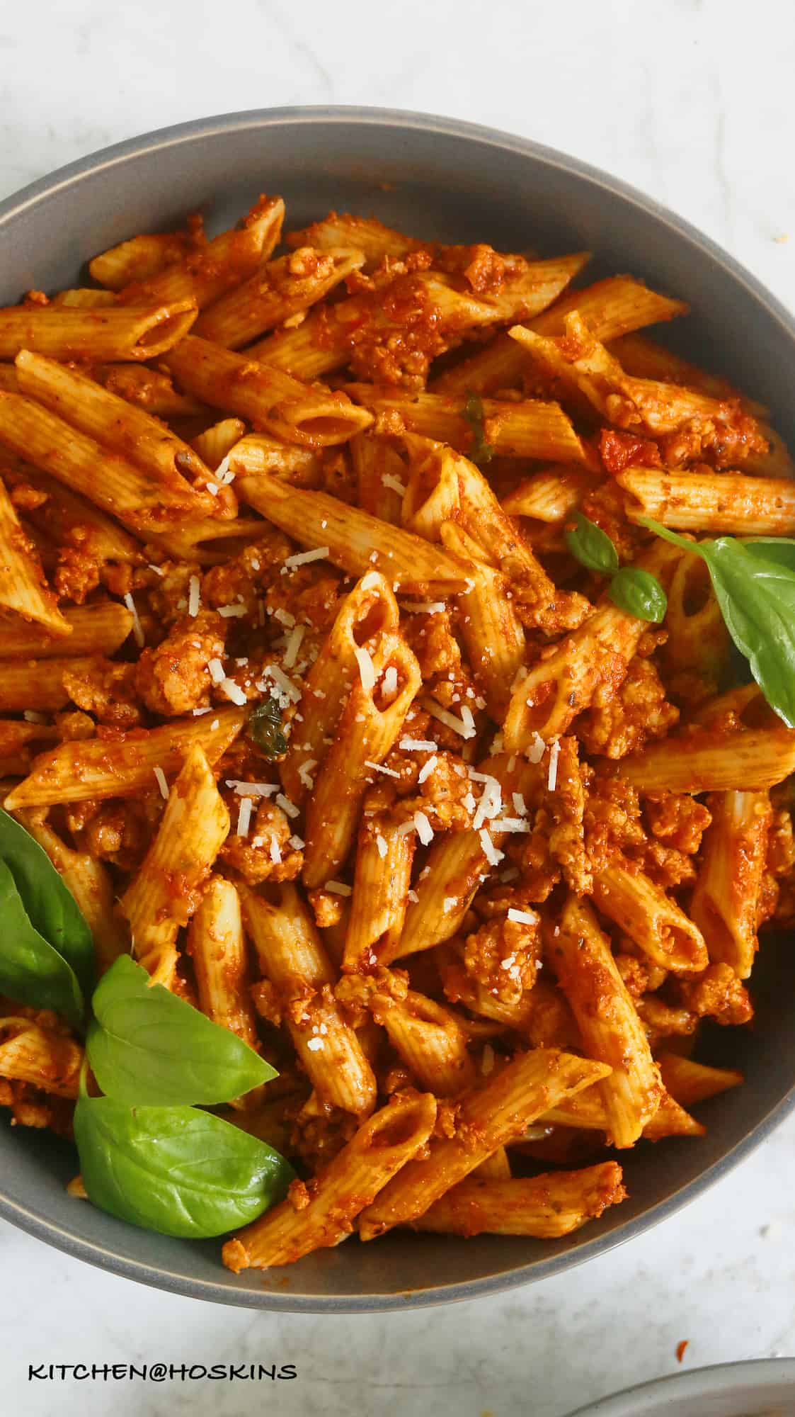 instant pot pasta with chicken meat sauce