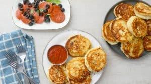PIZZA PANCAKES FOR DINNER