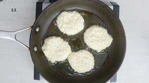 cooking savory pancakes for dinner