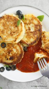 PIZZA PANCAKES FOR DINNER