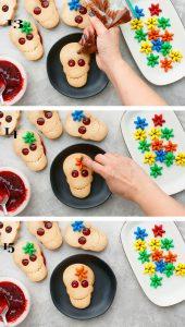 halloween skull linzer cookies