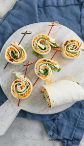 turkey apple and cheddar pinwheels