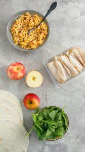 ingredients to make turkey pinwheels