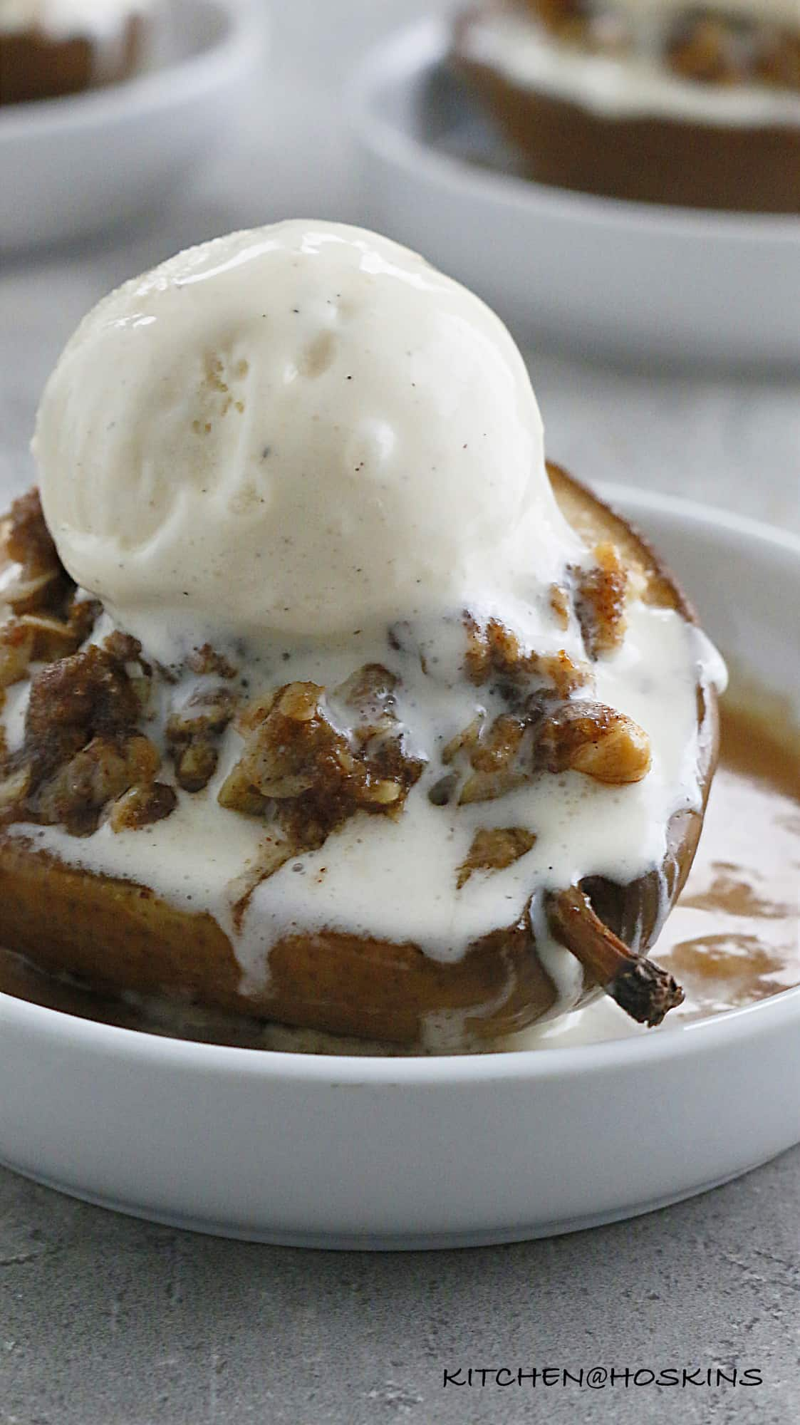 STFFED BAKED PEARS WITH