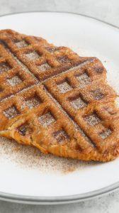 croissant coated with cinnamon sugar