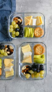 cheese and fruit snack box