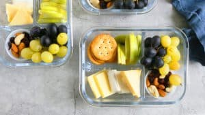 cheese and crackers snack box