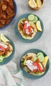 instant pot chicken shawarma wraps