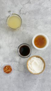 ingredients to make honey walnut shrimp ramen noodles