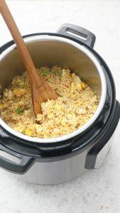 instant pot egg fried rice