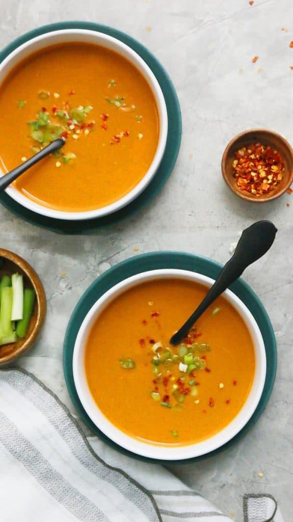 creamy instant pot thai curry cauliflower soup
