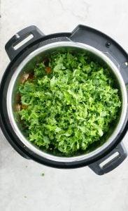 chopped kale in instant pot