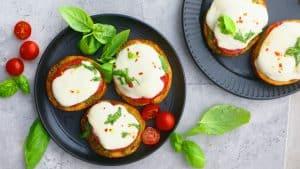 caprese salad on bread