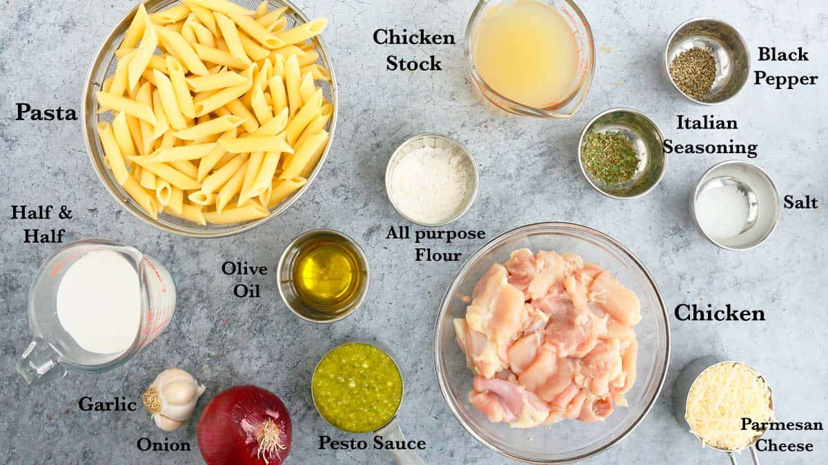 ingredients needed to make pasta