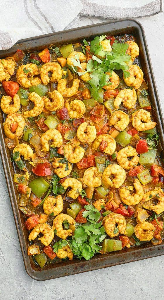 easy sheet pan shrimp recipe