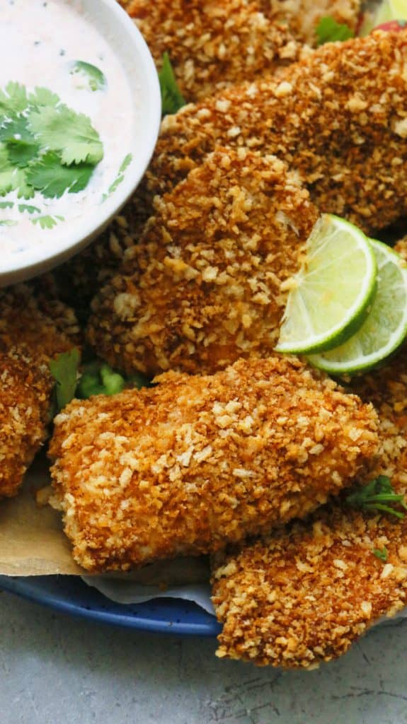 baked Mexican fish with panko breadcrumbs
