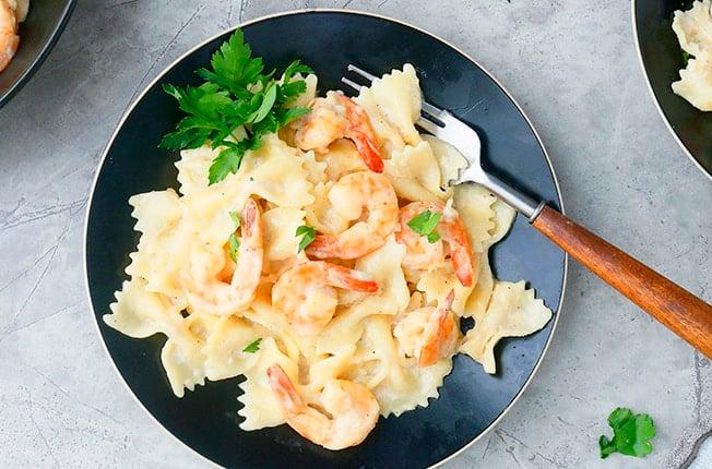 Instant Pot Shrimp Alfredo Pasta