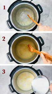 step by step photos of instant pot shrimp alfredo