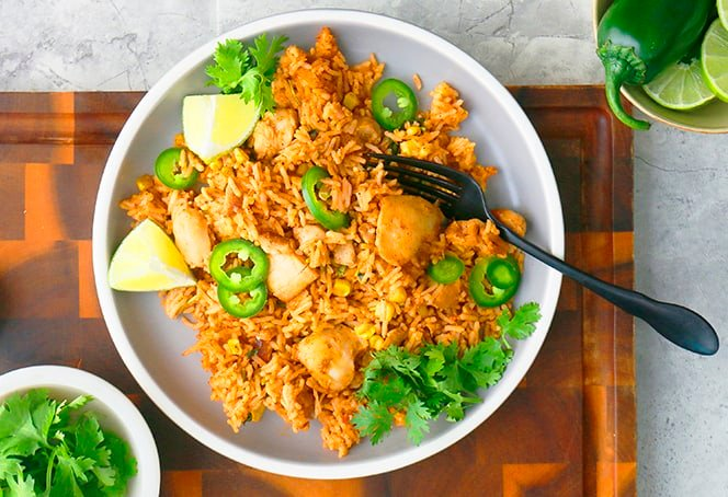 Cheesy Instant Pot Mexican Chicken and Rice