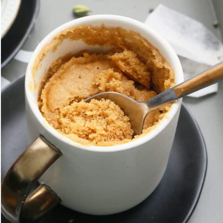 Chai Cake in a Mug
