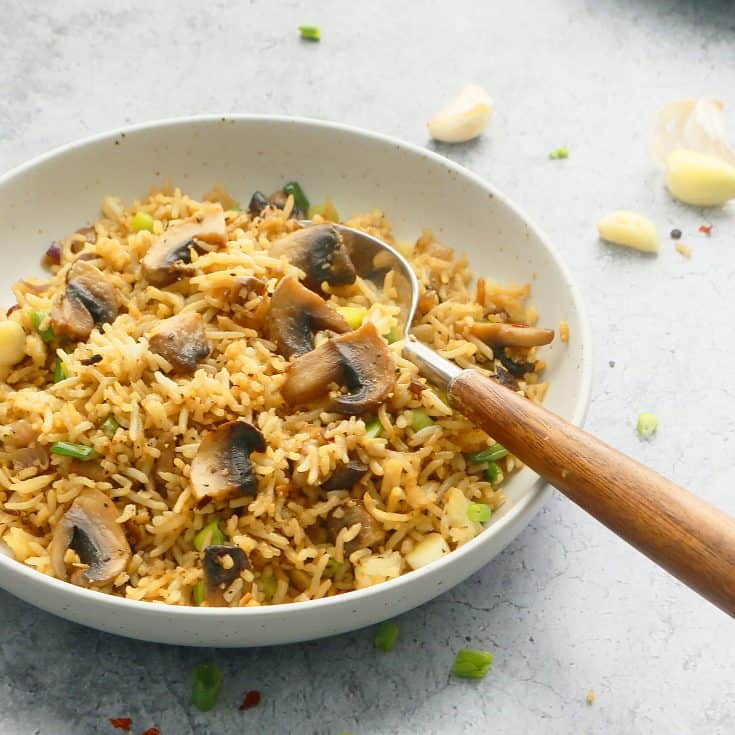 Garlic Butter Mushroom Fried Rice
