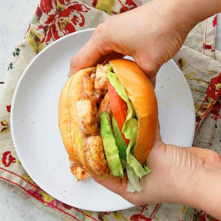 Shrimp Avocado Sandwich