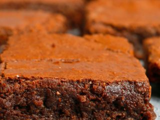 fudgy almond flour brownies.