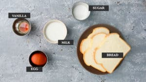 ingredients needed to make airfryer french toast