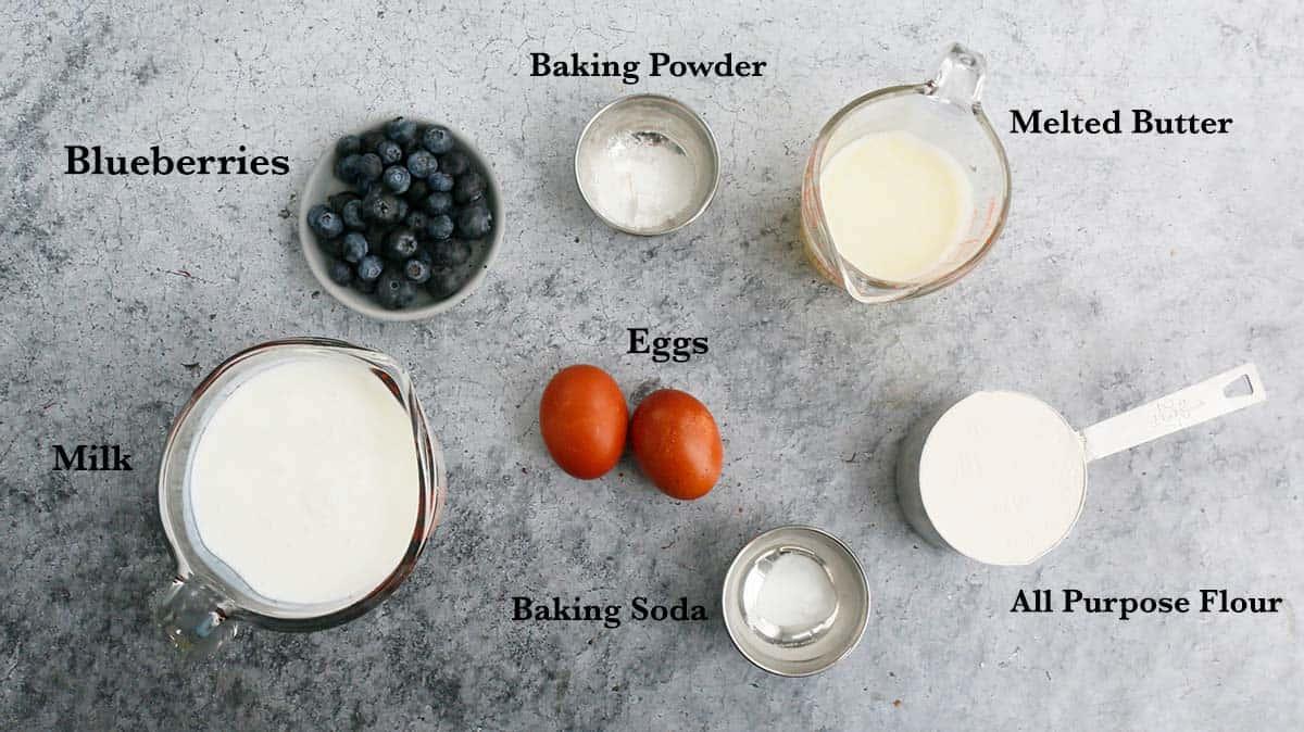 ingredients needed to make waffles