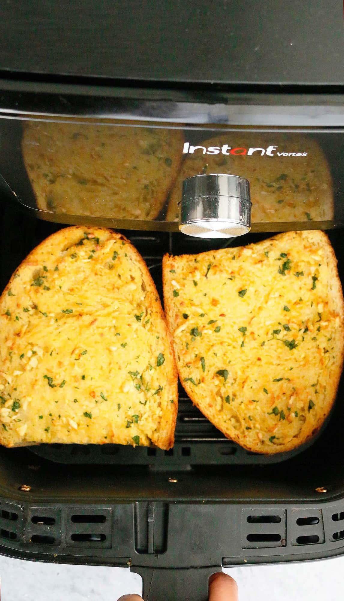 air fryer with hot crusty bread