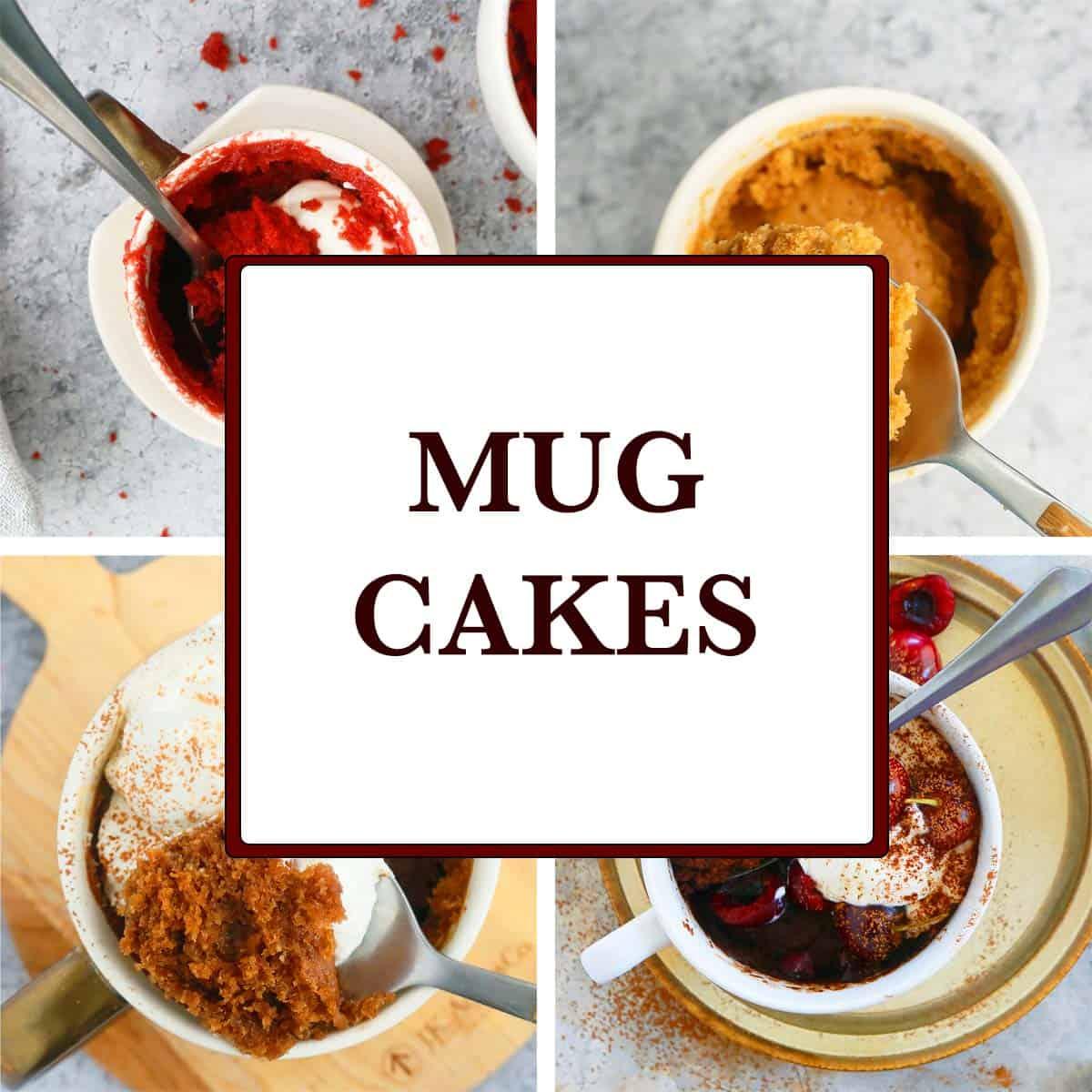 EGGLESS MUG CAKES