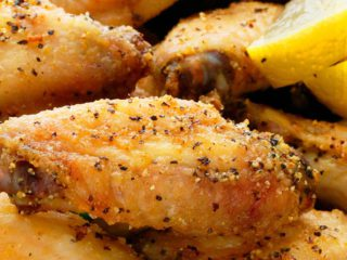 air fryer chicken wing with lemon pepper