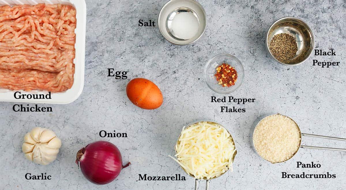 ingredients needed to make ground chicken burger patties