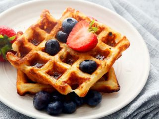 crispy waffles made without eggs