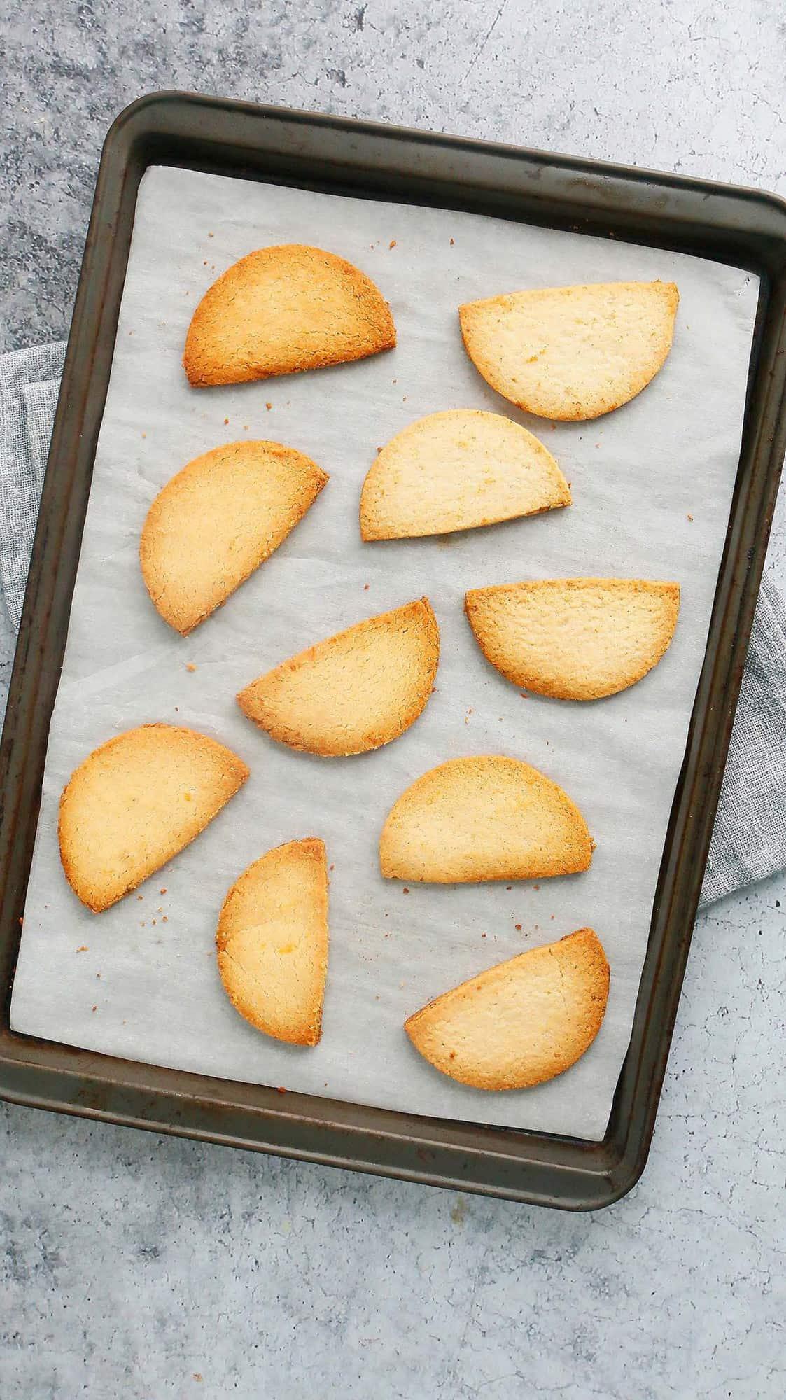 baked almond flour lemon cookies