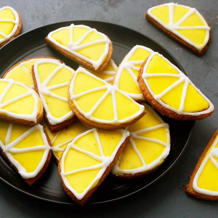 gluten free lemon cookies with almond flour on a plate