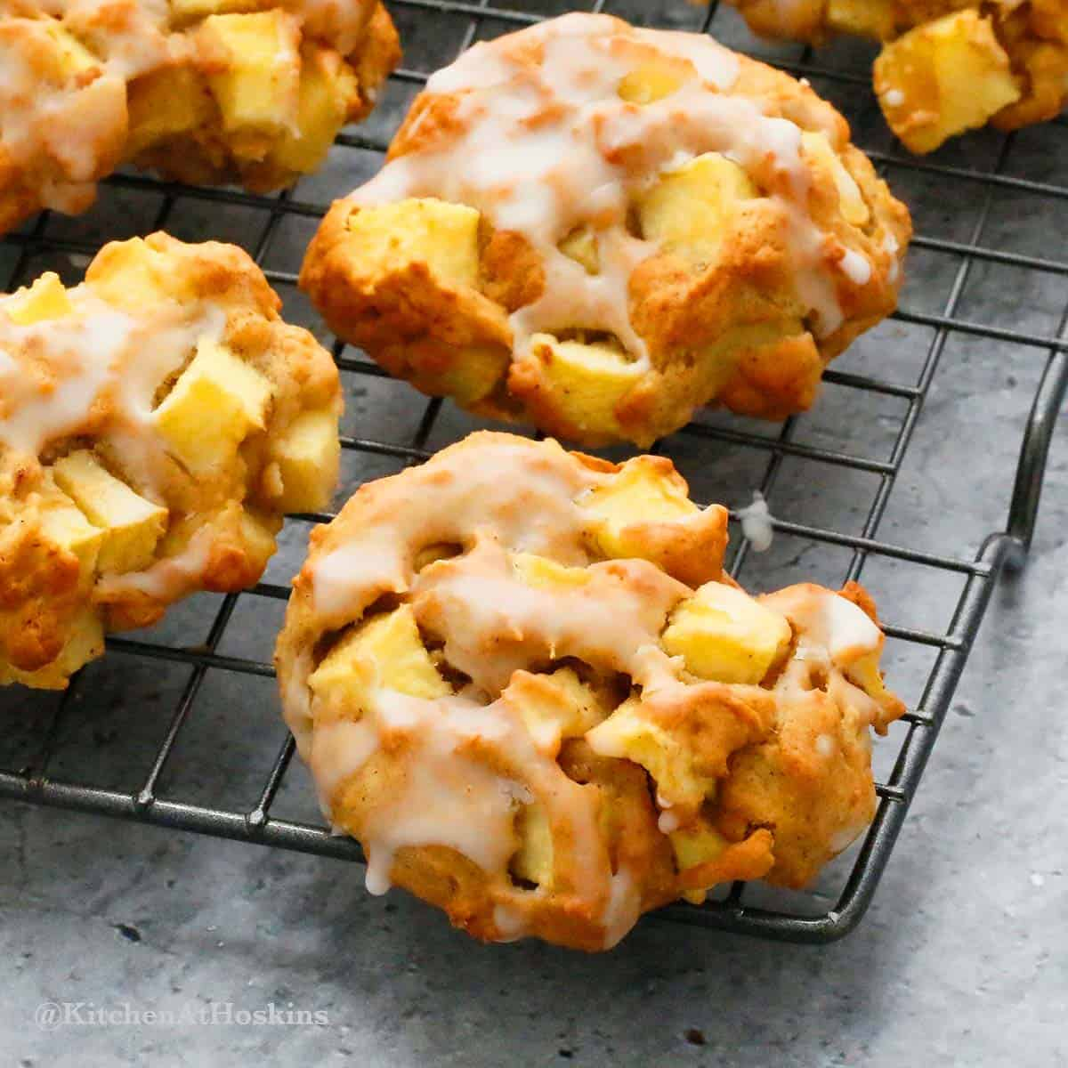 glazed apple fritters in the air fryer