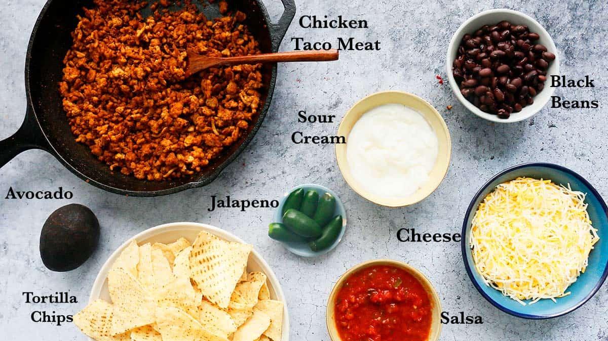 ingredients needed to make nachos in air fryer.